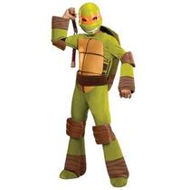 Disfraz Tortuga Ninja Miguel Angel Para Niños, Envio Gratis