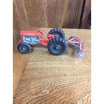 Tractor Agrícola De Juguete Antiguo Ford, Una Réplica A Esca