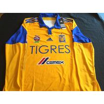 Jersey Tigres Uanl Manga Larga 2016 Adidas Local Grande L