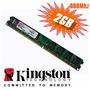 Memoria Ram 2 Gb, Ddr2 800 Mhz Pc2-6400 Kingston Para Pc
