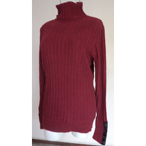 T-l Vera Wang Suéter Color Vino Cuello Ruso! S56