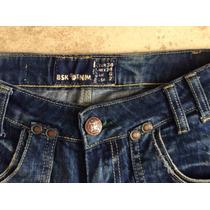 Pantalon Bershka Denim Mujer Corte Recto Talla 24