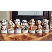 Calendario Con Animalitos De Porcelana Antigua