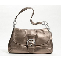 Coach Soho Leather Flap #f17217 Bronze Envio Gratis!!