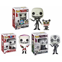 Funko Set 3 Pop Jack Skellington Disney Dia De Muertos Santa