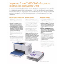 Xerox Impresora Workcentre 3045 Laser En Negro Y Escaner