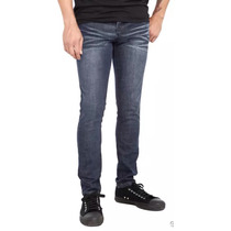 Rude Dark Vintage Skinny Jeans Hottopic Azul Oscuro Roquero