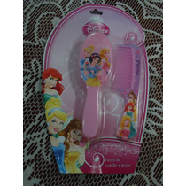 Set D Princesas D Disney 100% Original De Cepillo Y Peine