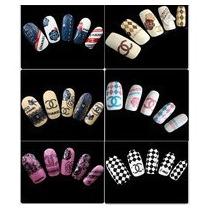 Stickers Uñas Logo Calcas Diseños Gelish Estetica Clientes