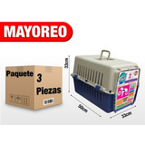 3 Transportadoras Kennel Para Perro Gato 50x33x33cm 1302