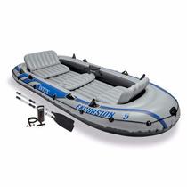Kit De Pesca Bote 5 Personas, Motor Troleador Bateria Y Mas