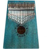 Piano De Dedo, Kalimba De Madera Portátil Con 17 Teclas