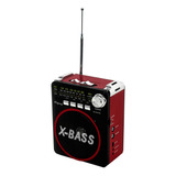 Bocina Portatil Bluetooth Recargable Radio Fm Usb Sd /e