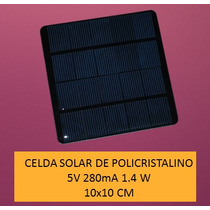 Celda Solar 5v 280ma 1.4w Cargador Solar Para Celular