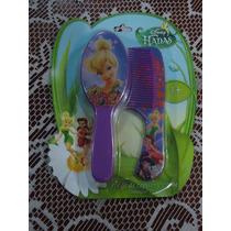 Set D Tinkerbell D Disney 100% Original De Cepillo Y Peine