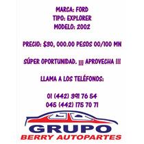 Ford Explorer Modelo 2002
