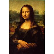 Lienzo, Tela. Leonardo Da Vinci, La Mona Lisa. 65 X 100 Cm