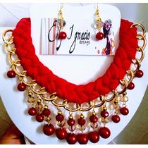 ad77ec7a500c Collar Artesanal Tejido Con Cristal Perla Bisuteria Fina en venta en Silao  Guanajuato por sólo   125