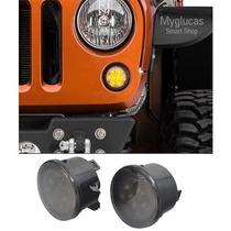 Luz Cuarto Frontal Led Para Jeep Wrangler Jk 2007 - Actual