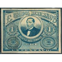 Timbre Fiscal Año 1876 Rente Del Timbre Para Contribucion Fe