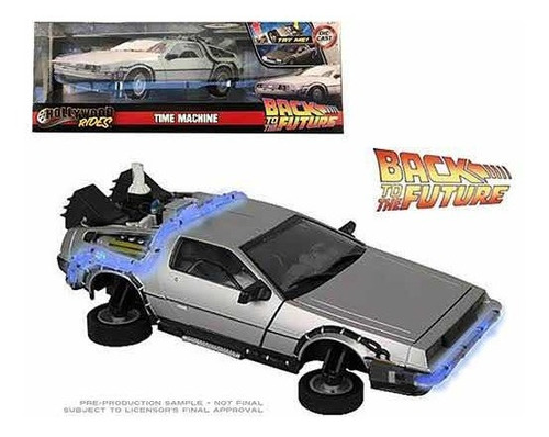 Jada Delorean Time Machine Fly Edition Con Luz 1:24 Sellada