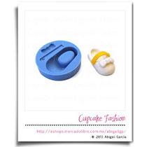 Molde Silicón Zapatito Fondant Bebé Baby Shower Cupcake #915