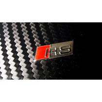 Emblema Rs Plata Audi A1 A3 A4 A5 Para Volante Autoadherible