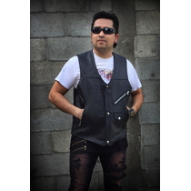 Chaleco Estilo Country 3 Broches Biker Motociclista Rock