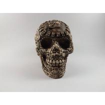 Cráneo De Resina Con Acabados Mayas Tipo Artesanal