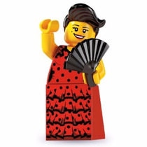 Lego 8827 Minifiguras Serie 6 Bailarina Flamenco