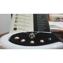 Kit De 5 Perlas Cultivadas Diferentes Colores Con Dije