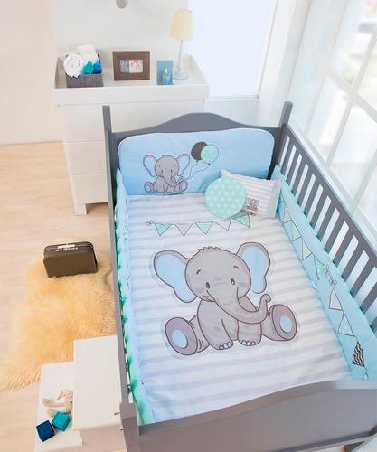 4a1f16039 Set Edredon Cama Cuna Corral Bebe Elefantito Chiquimundo en venta en ...