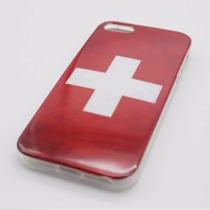 Funda De Bandera Suiza Swiss De Tpu Para Iphone 5 5s