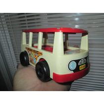 Antiguo Mini Bus Fisher Price De 1969