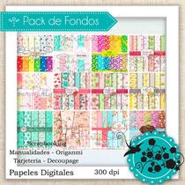Kit Imprimible Mega Pack De Fondos Shabby Decoupage Divino!!