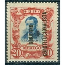 Sc 430 Año 1914 Mariano Abasolo Con Gobierno Constitucional