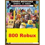 800 Robux En Roblox