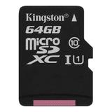 Tarjeta De Memoria Kingston Sdcs Canvas Select 64gb