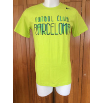 Playera Fc Barcelona Core T Shirt Color Verde 2014-2015 Nike