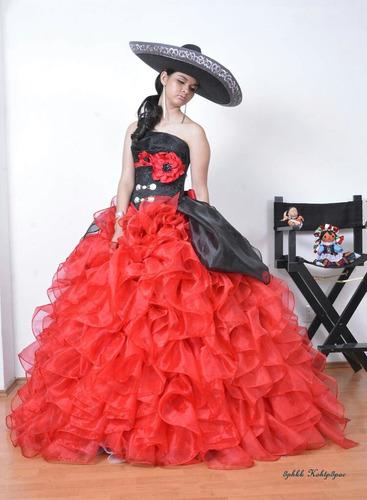 Vestido Charra Novia Xv Años Presentacion 3 Años En Venta