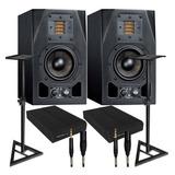 Adam Audio A3x Par De Monitores+cables Mogami+stands+pads