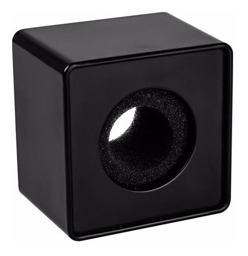 Cubo Profesional Negro Para Micrófono Con Esponja Sin Logos