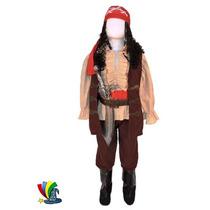 Disfraz Capitan Jack Sparrow Piratas Del Caribe Niño
