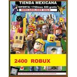2400 Robux En Roblox