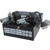 Kit Par De Focos H4 Led Cree 40w 4200lm 8400lm V16 Turbo Led
