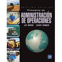 Libro: Principios De Administración De Operaciones Pdf