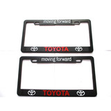Portaplacas Toyota Yaris Corolla Prius Aygo Rojo 2 Piezas
