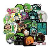 Rick Y Morty 2 - 100 Calcomanias Stickers Pvc Contra Agua