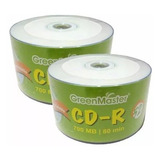 Cd-r Printable Full Face Blanco Green Master 50pzas