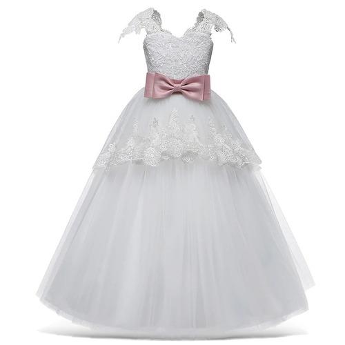 762a0dea8ff5 Vestido Niña Fiesta Paje/cumpleaños / Tul/encaje/aqua-blanco $799 jEyVh -  Precio D México